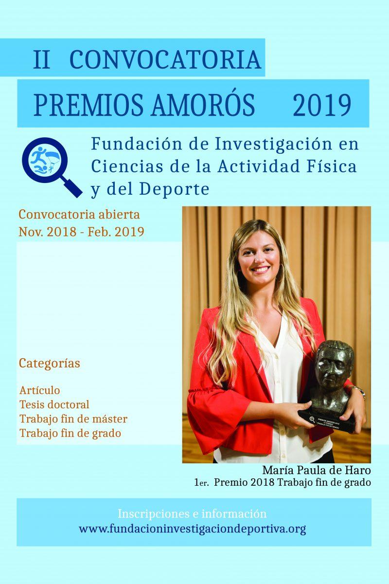 Póster Premios Amorós 2019